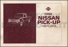 1984 Nissan Pickup Truck Owners Manual Owner Guide Book 720 Pick-Up Gas Diesel