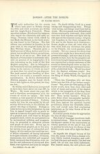 1891 London History After the Romans Article Great Britian City United Kingdom