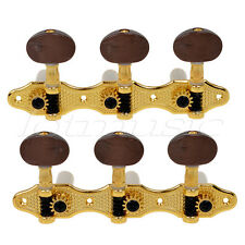 Gold Classical Guitar Tuning Pegs Machine Heads Tuner Caving Pattern