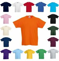 FRUIT OF THE LOOM KINDER T-SHIRT Kids Valueweight kurzarm RUNDHALS-92-164(2)