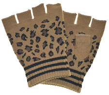 Fingerless Gloves Leopard (light color)