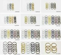 4mm,5mm,6mm,7mm,8mm,10mm,12mm Jump Rings Open Connectors For Jewelry Making
