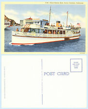 Glass Bottom Boat Santa Catalina California 1937 Ship Teich Postcard