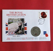 JERSEY 2011 ROYAL BRITISH LEGION  £5 CROWN COLOURED POPPY b - coin cover