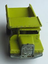 Lesney Matchbox Superfast No. 28 Dump Truck. Yellow - paint worn off in places.