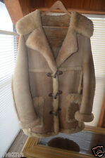 Vintage Sheepskin, Custom made Coat, Size L Tall, The warmest coat you'll own!!