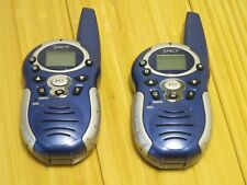 2 (One Pair) Blue Xact Walkie Talkies With Removable Belt Clips Small & Portable