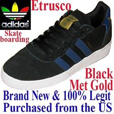 Adidas Skateboarding ETRUSCO Men's SIZE 8.0 Skateboard Shoes BLACK Skate Sneaker
