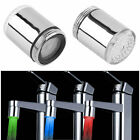 Temperature Sensor LED Light Water Faucet Tap 3 Color RGB Glow Shower #E
