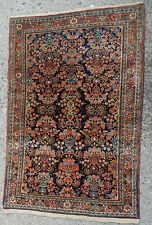 Antique Persian Oriental Rug Carpet Wool 3x4 Sarough Sarouk Mohajeran Sarough