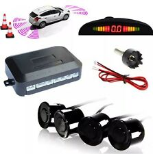 Car Van Vehicle Parking Rear Reverse 4 Sensors Buzzer Radar Display Audio Alarm