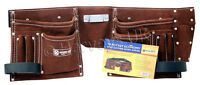 3 X DIY Trade Carpenter Builder Site Quality Adjustable Leather Tool Belt Pouch