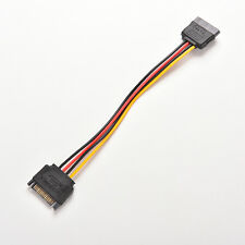 8 Inches Male to Female 15 Pin 15P SATA Power Extension Cable EFC