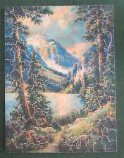 1930's PARKER BROTHERS PASTIME PUZZLE WOODEN JIGSAW SPRINGTIME IN THE ROCKIES