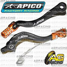 Apico Black Orange Rear Brake & Gear Pedal Lever For KTM SXF 350 2013-2015 MotoX