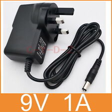 AC Converter Adapter DC 9V 1A Power Supply 9W 1000mA UK plug DC 5.5mm x 2.1mm