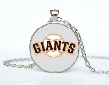 Giants MLB baseball Cabochon Glass Tibet Silver Chain Pendant Necklace