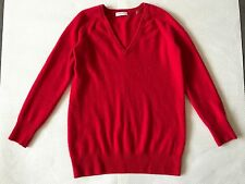 EQUIPMENT Red Sloane 100% Cashmere Crew-neck Sweater pullover XS/TP