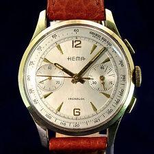 Hema cronograph funcionan de 1958 apenas usado con garantía