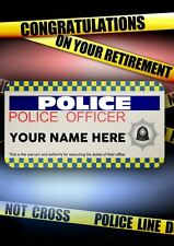 Police Office Man Male  Happy Retirement A5 Personalised Greeting Card  PidPOL1