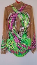 Rhythmic Gymnastic Leotard Green size 10-12 Pre-Owned