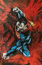 Superman DC Comics Oil Painting Art Hand-Painted Canvas Not a Print Poster #4