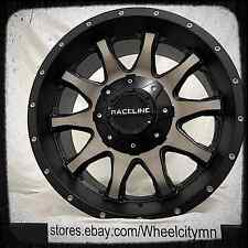17 inch black machine dark tint Raceline Shift 930 wheels Ford F150 17x9 5x135