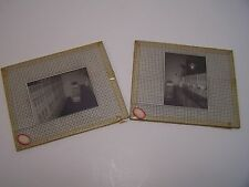 2 Glass Negatives Pharmacy Store Counter Bottles Prescriptions Mansfield Ohio