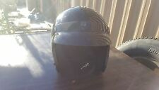 Black Arthur Fulmer AF-C25 Motorcycle Open Face Helmet Comes with visor 40387