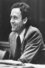 Framed Print - Ted Bundy Serial Killer Smiling in the Court Room (Picture Murder