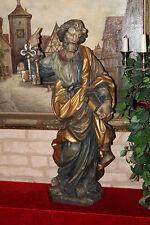 Holzfigur Heiliger Petrus XXL- 80cm Apostel Evangelist Heiligenfigur Grödnertal