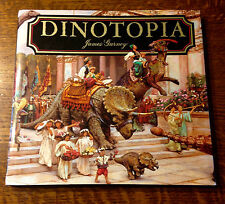 Rare DINOTOPIA - SIGNED w BRONTOSAURUS SKETCH by James Gurney 1998 1st/1st!
