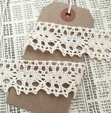 * Cream Ivory 3cm wide Crochet Cotton Lace Trim Sewing Craft Wedding UK MADE  *