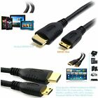 Premium Gold Mini HDMI to HDMI Cable Lead Digital Camcorder Tablet PC Mobile UK
