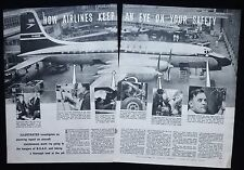BOAC SAFETY MAINTENANCE ISSUES AVIATION INDUSTRY AIRCRAFT 2pp PHOTO ARTICLE 1958