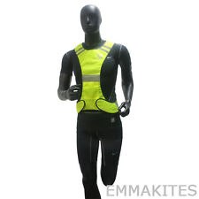 High Visibility Reflective Safety Vest Stripes Jacket Cycling Bike Bicycle Night