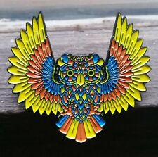 Wise Owl spirit animal pin - owls animals phish disco biscuits lsd hat pins dead