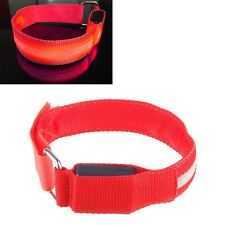 Light Up Glow In The Dark Flashing LED Light Bracelet Disco Party Bike Red
