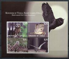 TONGA 2012 Eulen Owls Block ** MNH