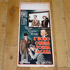 L'UOMO OMBRA TORNA A CASA locandina poster Powell Loy The Thin Man Goes Home