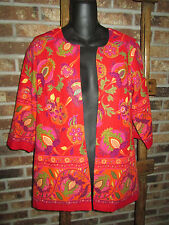 COLDWATER CREEK~Red Pink Orange~MULTI-COLOR Jacket~BLAZER~Size 4~XS~NEW~NWT~$89