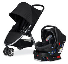Britax 2016 B-Agile Stroller & B-Safe 35 Elite Travel System In Domino New!