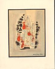 Herm Dienz: Kleine Komposition. 1975. Original Aquarell und Pastell auf Bütten
