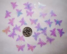 Wedding Table Scatters Foil Confetti Butterfly - Irridescent