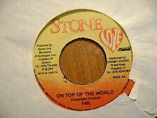JAMAICA STONE LOVE 45 RECORD/ 14K/ORDINARY PEOPLE/ON TOP OF THE WORLD/EX