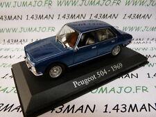 voiture 1/43 RBA IXO : PEUGEOT 504 1969 bleu