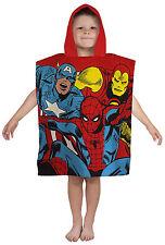 Marvel Comics Hooded Poncho Kids Superhero Towel Hulk Thor Spiderman Iron Man