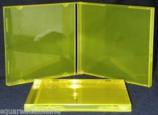 (10) CDBS10TY Translucent Yellow Colored Standard CD Jewel Cases Boxes Empty