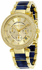 Michael Kors MK6238 Parker Champagne Dial Gold Plated Chronograph Women's Watch