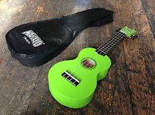 Mahalo Lime Green Soprano Ukulele / Uke Fitted With Aquila Strings & Case